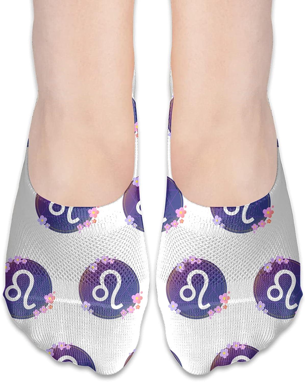 Constellation Leo Born In July August Birthday Gift No Show Socks Adult Short Socks Athletic Casual Crew Socks