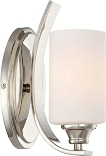 Minka Lavery Wall Light Fixtures 3981-613 Tilbury Wall Bath Vanity Lighting, 1-Light 100 Watts, Polished Nickel