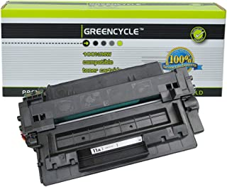 GREENCYCLE Replacement Q6511A 11A Black Toner Cartridge Compatible for HP Laserjet 2400 2410 2420 2430 Printers High Yield (6K Pages)