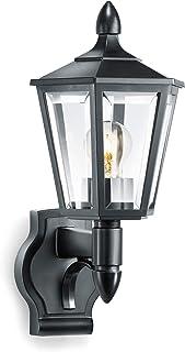 Steinel lampe d'extérieur L 15 noir, applique d'extérieur classique, lanterne, max. 60 W, E27, lampe d'extérieur sans déte...