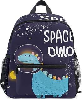 Mochila para niños, mochila escolar, diseño de dinosaurios, ligera, para estudiantes preescolares, para niños y niñas, correa para el pecho Azul Dinosaurio 021 talla única