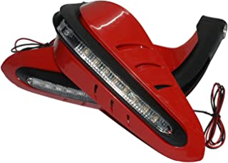 Red Handguards Hand Guards Universal for 7/8