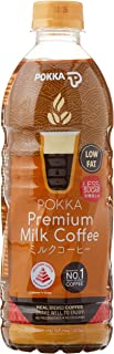 POKKA Premium Milk Coffee Less Sugar, 500 ml (Pack of 24)