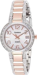 Casio Women's Quartz Watch, Analog Display and Stainless Steel Strap