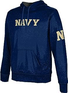 United States Naval Academy University Men's Pullover Hoodie, School Spirit Sweatshirt (Heathered)