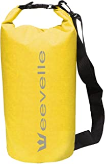 Eevelle Waterproof Dry Bag for Boating,  Camping and Kayaking - Yellow Dry Sack Waterproof 30L - Marine Grade