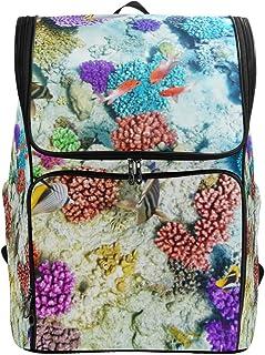 Fantazio Coral Reef Under Sea - Mochila para portátil al Aire Libre, Viaje, Senderismo, Camping, Mochila Informal, Grande