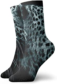 Luxury Calcetines de Deporte White Wild Point Leopard Adult Short Socks Cotton Fun Socks for Mens Womens Yoga Hiking Cycling Running Soccer Sports