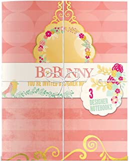 Bo Bunny You're Invited 32-Page Notebooks 6.75 x 8.5-inch Gold Foil Stamped