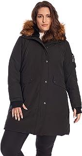 Alpine North Size Womens Vegan Down Long Parka Winter Jacket Plus