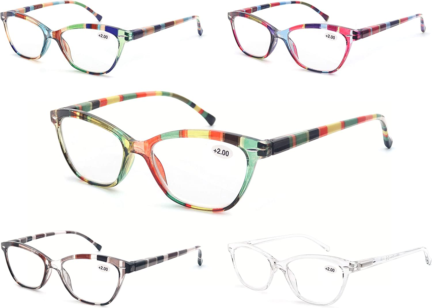 MODFANS Reading Cheap mail order specialty store Glasses Women 4 Pack Max 71% OFF Ladies Readers Spring Hinge