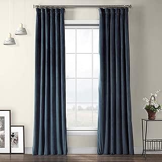 VPYC-161270-108 Heritage Plush Velvet Curtain, 50 x 108, Avalon Blue