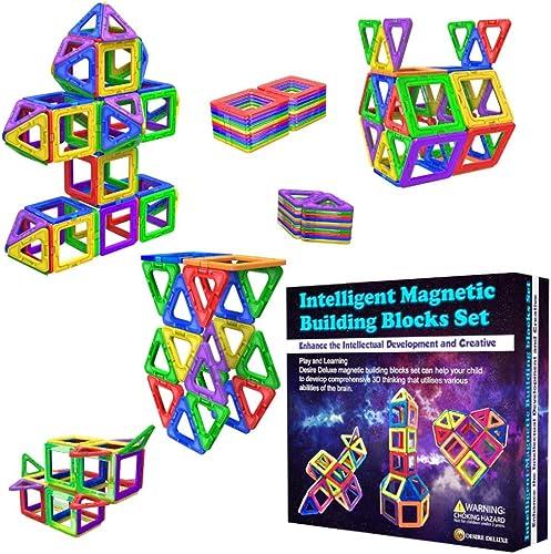 Blocs de Construction Magnétiques – Cadeaux de pour Les Enfants – Blocs de constructions aimantés - Jeux pour garçons...