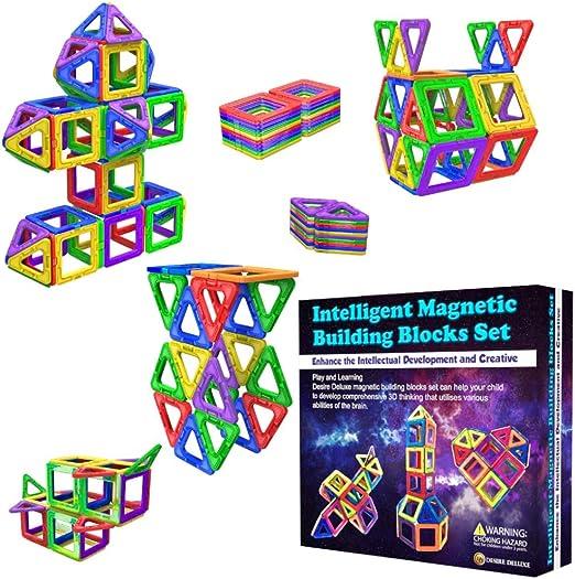 122 Stück Magnetische Bausteine Magnetic Building Bausatz Kinder Spielzeug DE