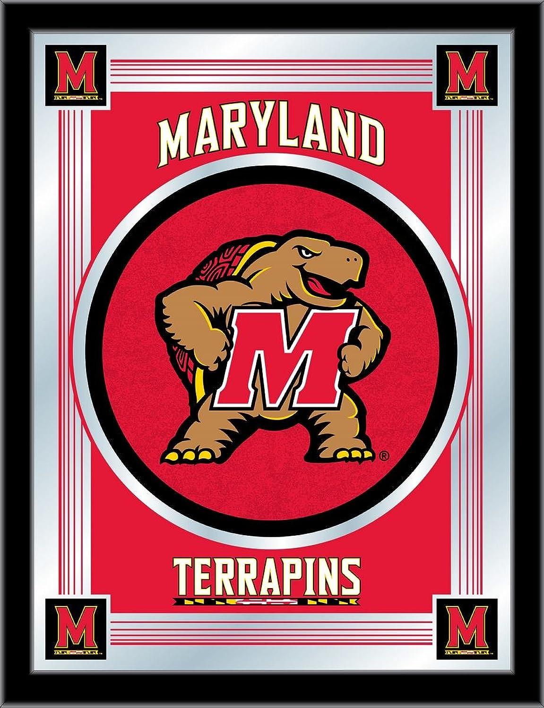 Holland Bar Stool NCAA Maryland Terrapins Logo Mirror, 17 X 22-Inch