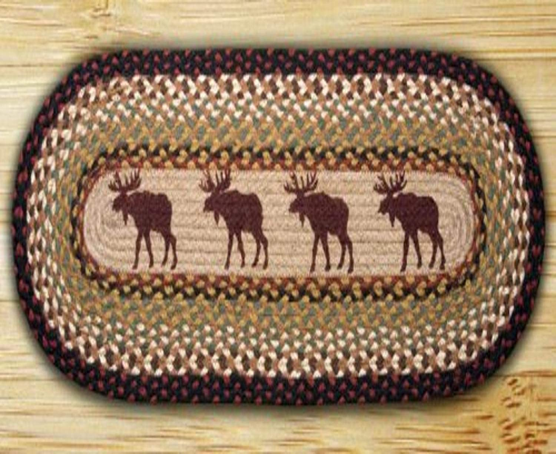 Earth Rugs Table Runner Bargain sale Moose Very popular! x 36