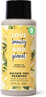 Love Beauty and Planet Coconut Oil and Ylang Ylang Shampoo by Love Beauty and Planet for Unisex - 13.5 oz Shampoo, 405 mil...