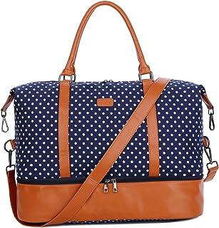 حقيبة نسائية من قماش الكتان للسفر في عطلة نهاية الأسبوع HB-28 من BAOSHA حقيبة تحمل من القماش الكتاني للنساء