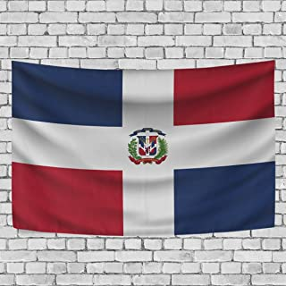 super3Dprinted Dominican Republic Flag Tapestry, Wall Hanging Art Home Decoration for Bedroom Living Kids Girls Boys Room Dorm Accessories, 60X40 Inches
