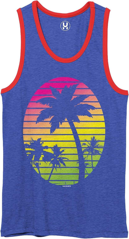Palm Tree Ranking TOP14 Scene - Vacation 2-Tone Tank Dedication Tropical Unisex Top