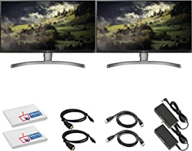 """LG 27UL650-W 27"""" 16:9 4K HDR FreeSync IPS Gaming Monitor (27UL650-W) with HDMI Cable and Microfiber Cleaning Cloth - 2 Mon..."""