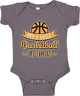 Amdesco My First Basketball Season Infant Bodysuit