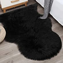 Noahas 2ft x 3ft Faux Fur Sheepskin Rugs Luxury Fluffy Rug for Bedroom Sofa Chair Cover Fuzzy Throw Home Decor Small Shagg...