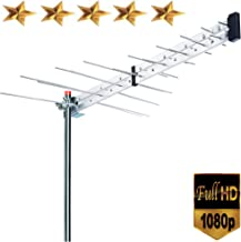 Premium BoostWaves Yagi Roof Top TV Antenna Optimized HDTV Digital Outdoor Directional Aerial VHF UHF FM - Solid Metal Construction 2 Year Warranty