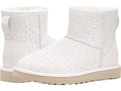 UGG Classic Mini Snow Leopard (White) Women