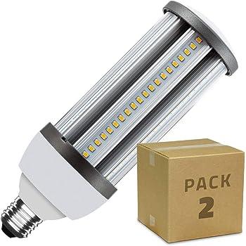 LEDKIA LIGHTING Pack Lámpara LED Alumbrado Público Corn E27 Casquillo Gordo 30W (2 un) Blanco Cálido 3000K - 3500K: Amazon.es: Iluminación