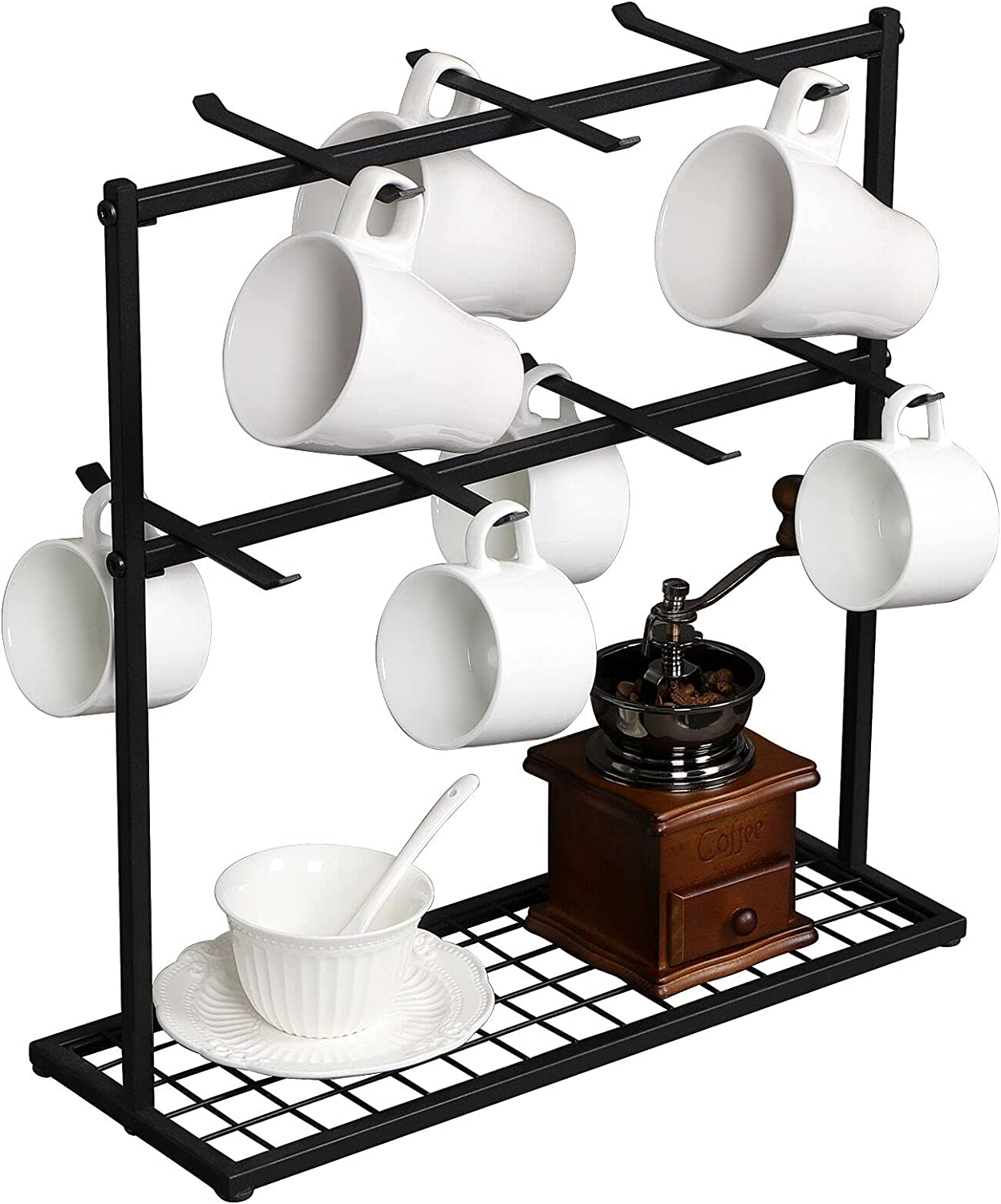 OROPY Coffee Mug Challenge the lowest price Holder Stand 2 Animer and price revision Countertop Tree Tier