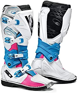 Sidi X-3 Lei Off Road Ladies Motorcycle Boots Pink/White/Light Blue US8/EU40 (More Size Options)