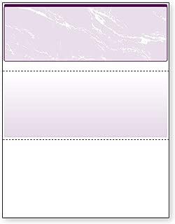 DocuGard Purple Marble Top Check, 8.5 x 11 Inches, 24 lb, 500 Sheets, 1 Check Per Sheet (04507)