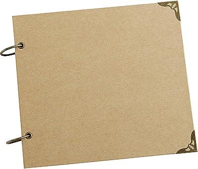 Without 20Pages Blank/DIY Albums Photo de Couverture Loose-Leaf/Wedding Album Photo Album Auto-adhésif Album Album Reliure Caisse (Color : Album Kraft Page)