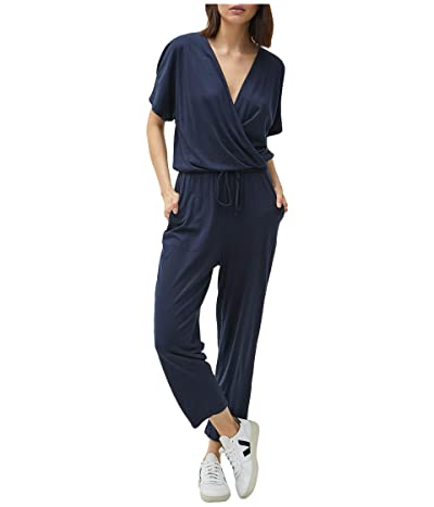 Michael Stars Chelan Cotton Modal Short Sleeve Cropped Jumpsuit (Admiral) Women