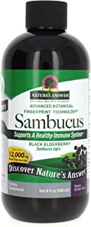 Nature's Answer Sambucus Dietary Supplement, Original for Daily Immune and Antioxidant Support | Made in The USA | Alcohol...
