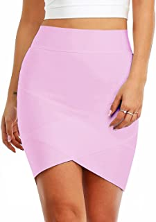 Women's Sexy Stretch Elastic Short Bandage Bodycon Black Tube Mini Skirt H627