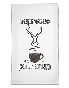 TOOLOUD Espresso Patronum Flour Sack Dish Towel