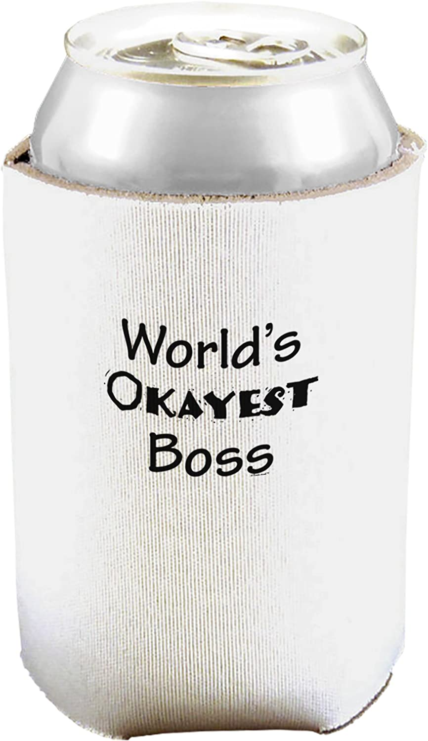 Boss Day Can and Bottle Insulator Cooler White 2 Pack TOOLOUD Worlds Best Boss