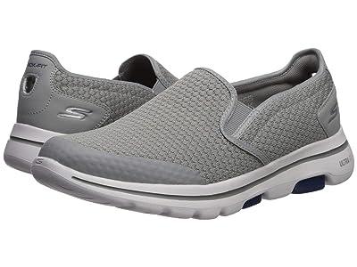 SKECHERS Performance Go Walk 5 Apprize (Light Gray/Blue) Men