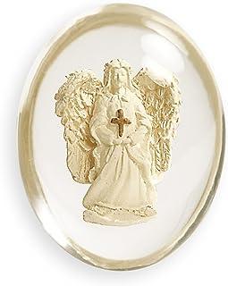 Angelstar 8746 Angel with Cross Worry Stone, 1-1/2-Inch