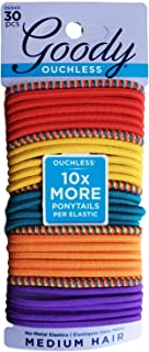 Goody WoMens Ouchless Braided Elastics, Rio Jewel, 30 Count (Festival Primary)