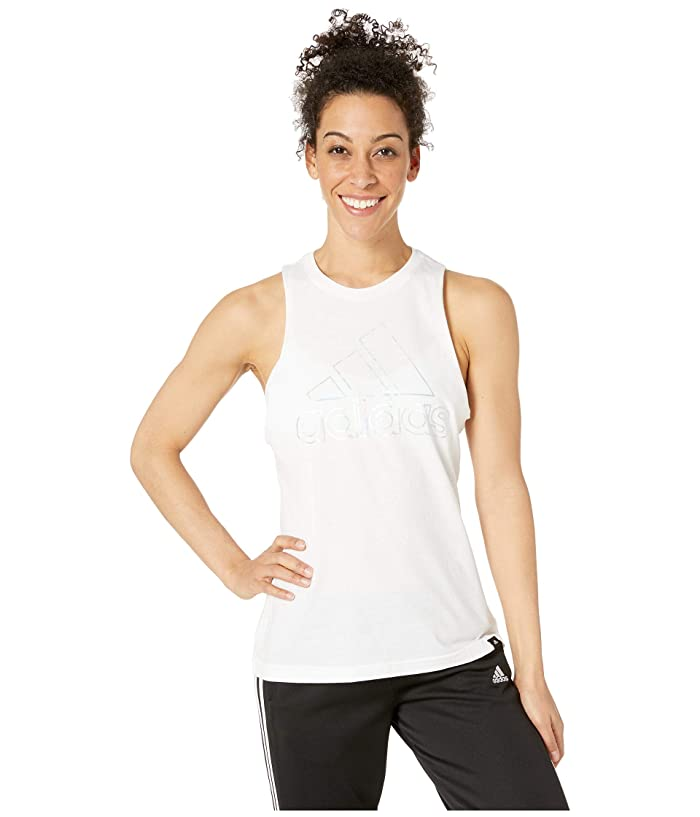 adidas Badge of Sport Iridescent Muscle Tank Top (White) Women