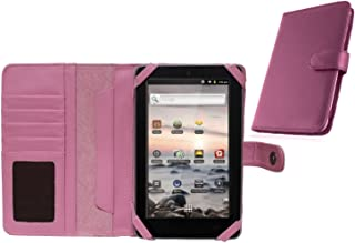 Navitech Pink Bycast Leather Flip Open 7 Inch Book Style Carry Case/Cover Compatible with The Coby Kyros MID 7010, 7010C, 7013, 7018, 7001, 7012, 7016, 7022, 7120, 7125, 7127, 7024, 7026, 7027, 7037