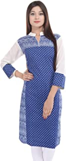 Indian Women's Printed Cotton Kurti Top