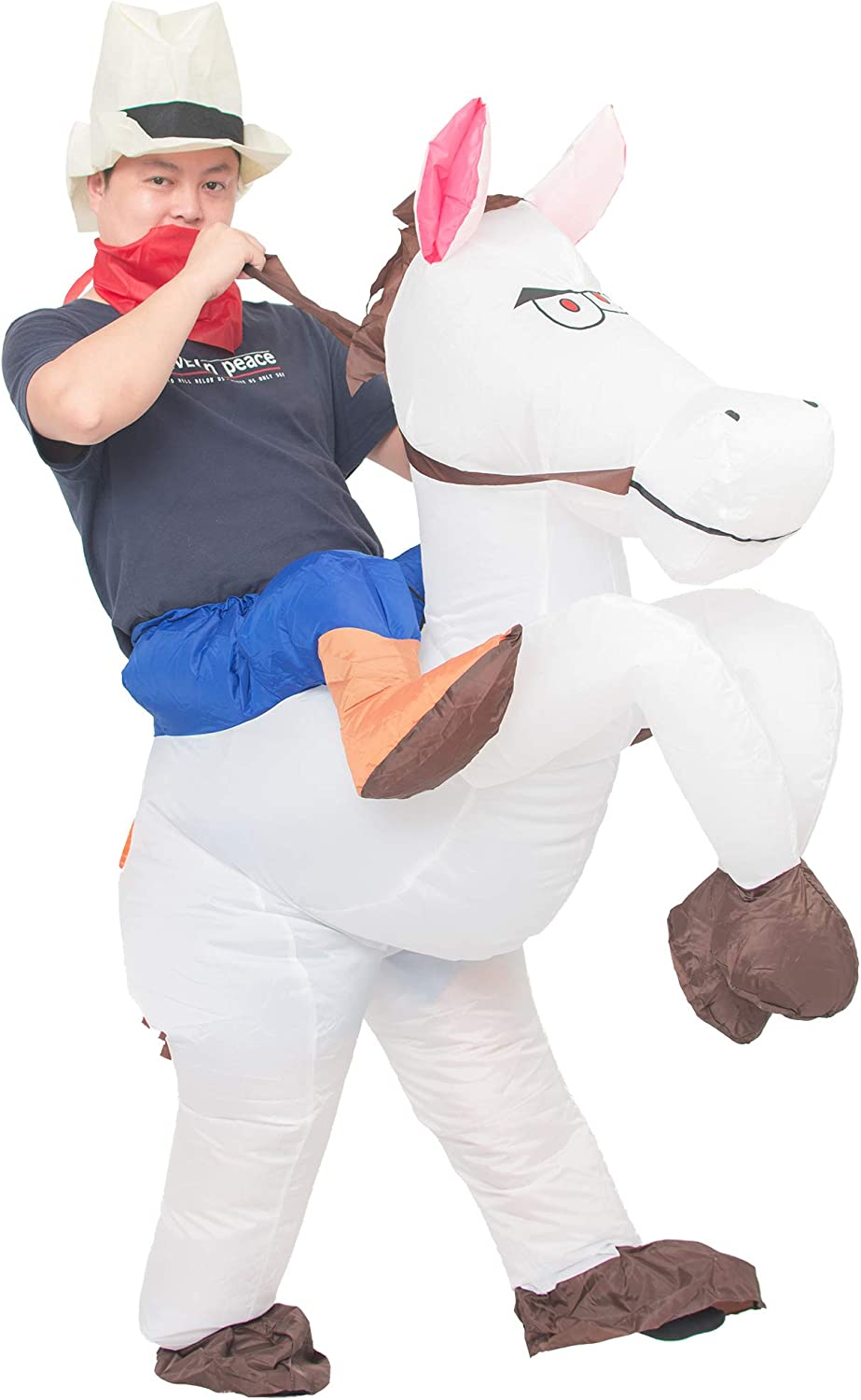 JYZCOS Genuine Inflatable Cowboy Costume Western Dress Fancy Horse Rider Oakland Mall