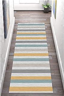 HAIPENG Colorful Hallway Runner Rug, Non Slip Floor Carpet, Simple Entrance Mat for Living Room Kitchen Corridor, 60cm/80c...