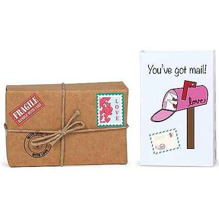 Kaameri Bazaar You've got Mail - Tiny Hamper for Girlfriend/Boyfriend/Husband/Wife/Fiance to Gift on Birthday/Anniversary- Multi Color