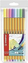 Rotulador puntafina STABILO point 88 - Estuche con 8 colores pastel