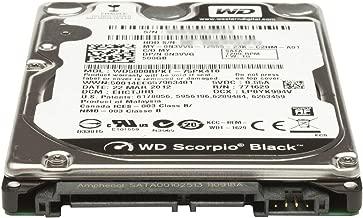 WESTERN DIGITAL WD5000BPKT Scorpio Black 500GB 7200 RPM 16MB cache SATA 3.0Gb/s 2.5 internal notebook hard drive (Bare Drive) (Renewed)